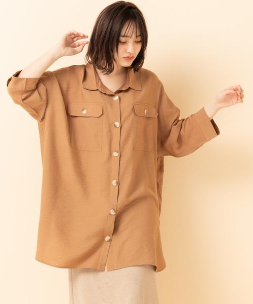 ポケ付BIGシャツ