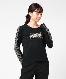SNAKE SLEEVE Tシャツブラック