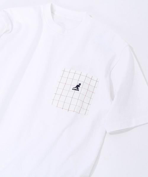 KANGOL(カンゴール)別注チェックポケットTシャツ(その他1〜3⇒WEB限定カラー)#