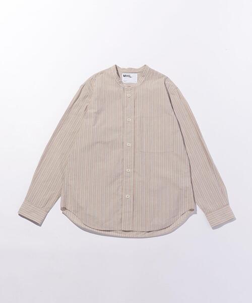 <MHL.> PJ STRIPE/シャツ