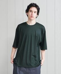 <H>WOOL CREW NECK PULLOVER/カットソー