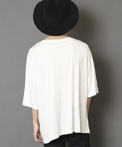 ビッグシルエットカットソー ビッグシルエットドロップショルダーTシャツ ビッグTシャツ