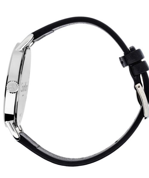 [カルバンクライン] CALVIN KLEIN 腕時計 Even(イーブン) 2針 シルバー×ブラック