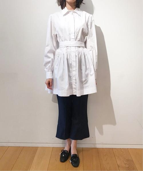 独創的 ALEXACHUNG フロントベルトシャツ(シャツ FOR/ブラウス)|ALEXA EDIT. FOR CHUNG(アレクサチャン)のファッション通販, アカツキワールド広場:eecdb24f --- pyme.pe