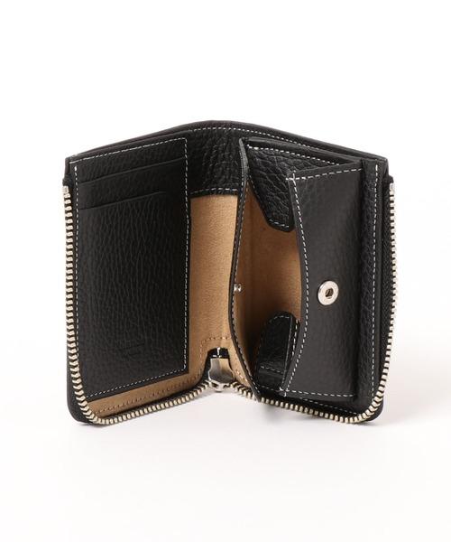 blancle(ブランクレ)の「bc1068 ITALY SHRINK LEATHER J ZIP WALLET イタリアンレザー コンパクト ジップ ウォレット(財布)」|ブラック