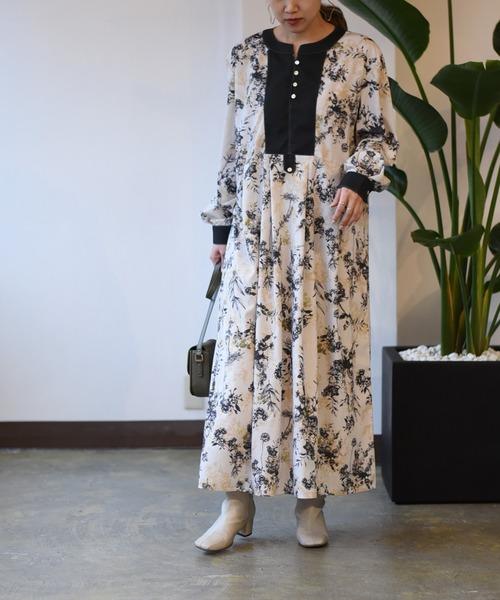 ボタニカルフラワーPT ドレス