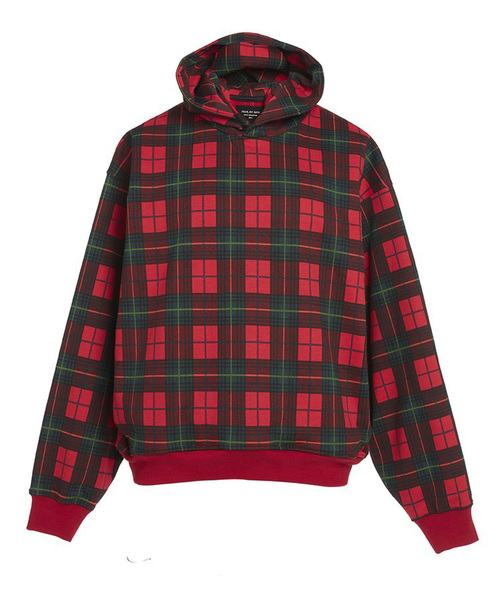 FEAR OF GOD フィアオブゴッド / PLAID EVERYDAY HOODIE  FEHO-RED