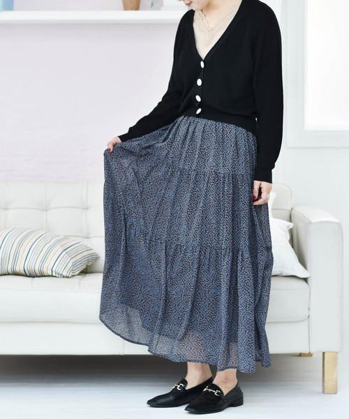 柄ティアードスカート