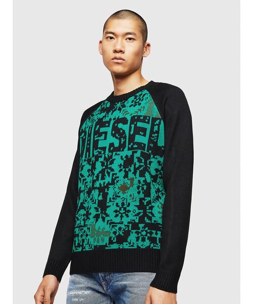 【保存版】 メンズ メリノブレンドロゴ ニット(ニット DIESEL/セーター)|DIESEL(ディーゼル)のファッション通販, タハラシ:56aeae43 --- innorec.de