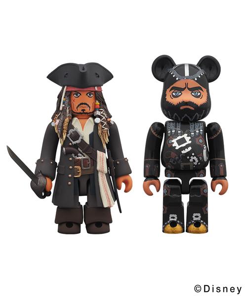 Medicom BE@RBRICK Jack Sparrow 100/% 400/% Bearbrick Set Pirates of the Caribbean