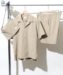 【WEB限定】(3点セット)ストレッチオープンカラーシャツサマーセットアップ
