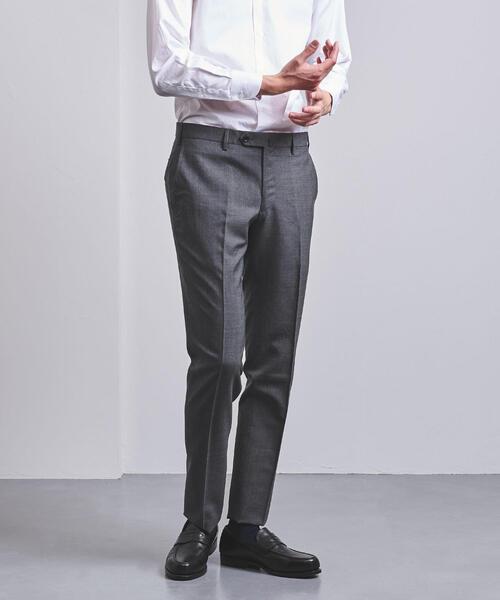 ◎UADB WSH W/CA トロピカルウール ノープリーツ パンツ◆