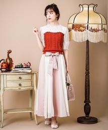 axes femme(アクシーズファム)のサテン×チュールスカート(スカート)