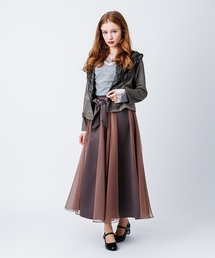 サテン×チュールスカート(スカート)