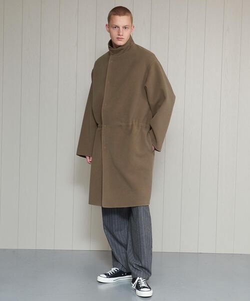 <H>MELTON STAND COAT/コート