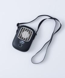 充電式コードレスハンズフリーファン(扇風機)ブラック