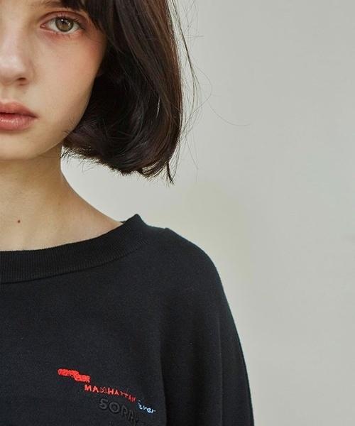 【Sorry, Too Much Love】ロゴエンブロイダリースウェットシャツ