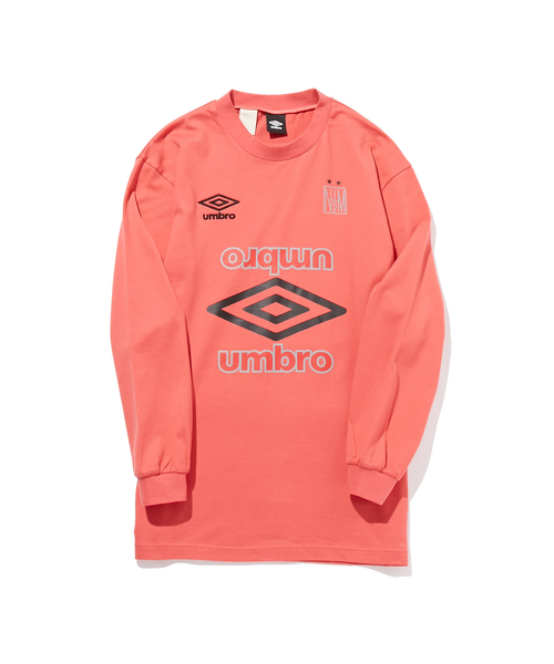 N.HOOLYWOOD SPRING & SUMMER 2019 COLLECTION LINE N.HOOLYWOOD × UMBRO COLLABORATION LONG SLEEVE T-SHIRT PRINTED ON BACK