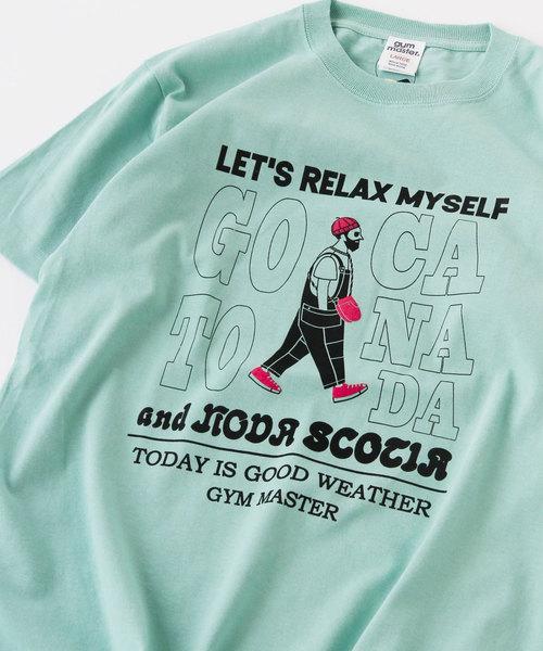 gym master(ジムマスター)の「RELAX MYSELF TEE(Tシャツ/カットソー)」|ミント