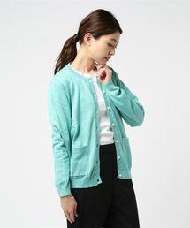 Samansa Mos2(サマンサ モスモス)のシロツメグサ刺繍UV加工カーディガン(ニット/セーター)