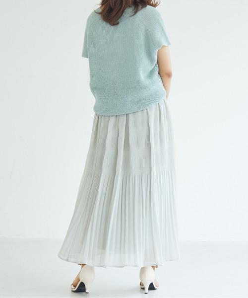 DOUX ARCHIVES(ドゥアルシーヴ)の「マジョリカプリーツスカート(スカート)」|詳細画像