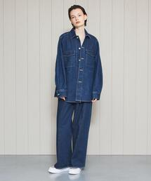 <H>DENIM CPO JACKET/ジャケット