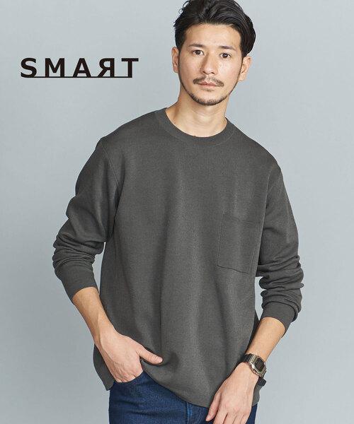 【WEB限定 WARDROBE SMART】by KOUKIN 1ポケット ニット -ウォッシャブル-