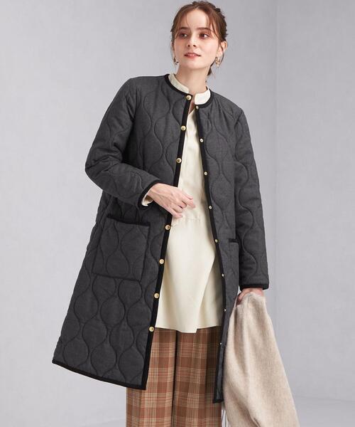 <Traditional Weatherwear> ARKLEY ロング コート キルティング