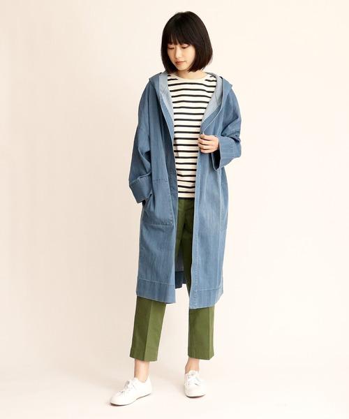 【Allumer/アリュメール】Tencel Denim Hooded Coat 8170309