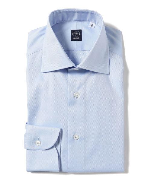BEAMS F / ロイヤルオックスフォード ワイドカラーシャツ