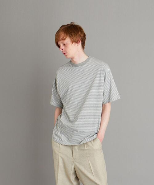 <Steven Alan> SIRO BORDER RNGER SHORT SLEEVE TEE-BOX/Tシャツ