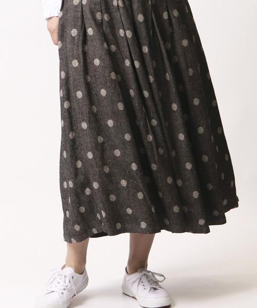 【 ubasoku / ウバソク 】裏付きタックギャザー83丈スカート ub-0097 BNT