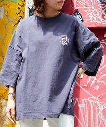 FILA/フィラ 別注 サークルロゴ刺繍 ビッグシルエット半袖カットソーブラック系その他