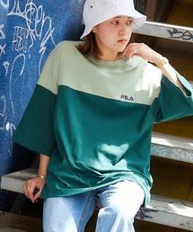 FILA/フィラ 別注 サークルロゴ刺繍 ビッグシルエット半袖カットソーグリーン系その他2