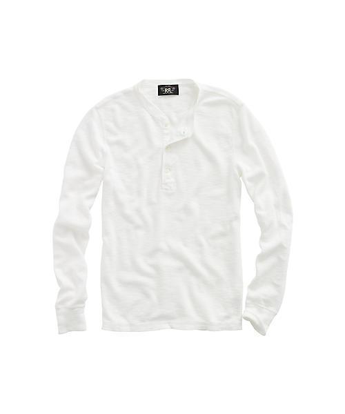 RRL Ralph Lauren(ダブル アールエル)の「ロング スリーブ ヘンリー(Tシャツ/カットソー)」|ホワイト