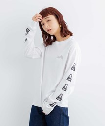 X-girl(エックスガール)のFACE L/S REGULAR TEE(Tシャツ/カットソー)