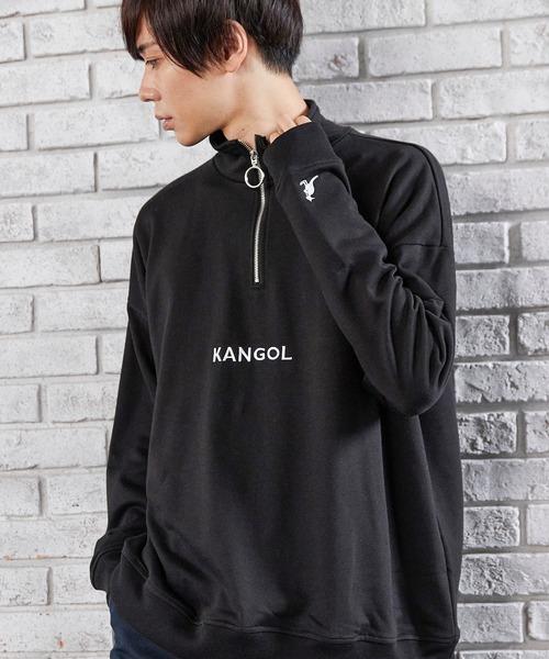 ▽WEB限定 KANGOL/カンゴール 別注 オーバーサイズハーフジップスウェット