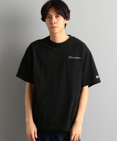 別注 [チャンピオン]SC Champion LOGO ポケット Tシャツ