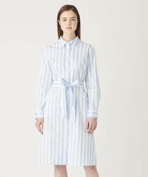 Calvin Klein Jeans(カルヴァン クライン ジーンズ)の【CALVIN KLEIN JEANS】 ウメンズ ストライプ シャツ ドレス(シャツワンピース)
