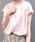 AZUL ENCANTO(アズールエンカント)の「【洗濯機で洗える】【消臭効果】フレンチスリーブギャザーブラウス(シャツ/ブラウス)」 ライトピンク