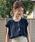 AZUL ENCANTO(アズールエンカント)の「【洗濯機で洗える】【消臭効果】フレンチスリーブギャザーブラウス(シャツ/ブラウス)」 ブラック