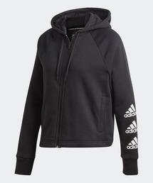 adidas(アディダス)のスタック ロゴ フルジップ フリース パーカー [Stacked Logo Full-Zip Fleece Hoodie] アディダス(パーカー)