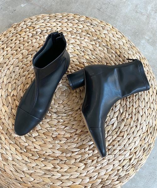 【chuclla】【2020/AW】Stretch cap-toe boots chs89