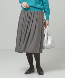 <ma couleur>フェイクスエード ギャザースカート