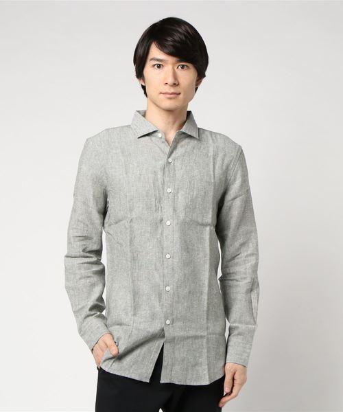 さわやかで上質な麻シャツ