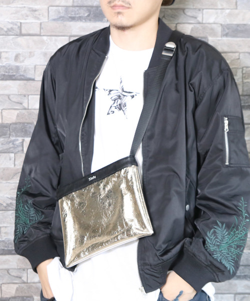 【Sinfu/シンフ】viniyl×metallic  sacoche/ビニール×メタリック サコッシュ
