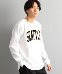 別注 [チャンピオン]SC Champion PRINT 長袖Tシャツ / カットソー