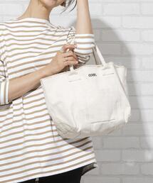 コーエンロゴ刺繍カットオフトートバッグ