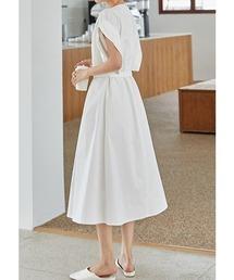 【chuclla】Roll sleeve dress chw1254ホワイト
