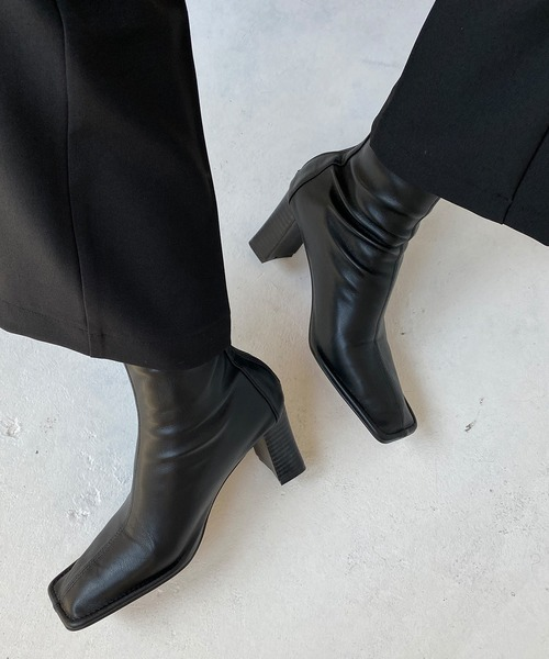 【chuclla】【2020/AW】Stretch square toe boots chs90